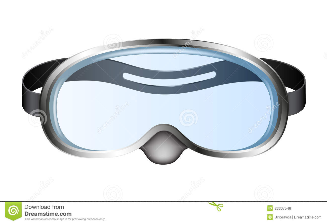Diving Goggles Mask Stock Illustrations.