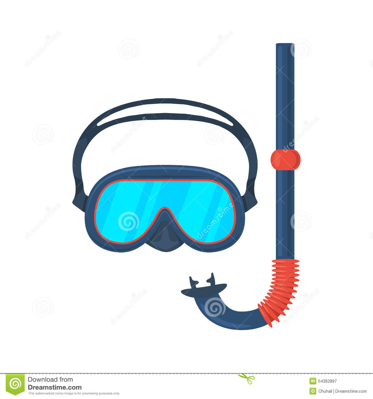 Diving Goggles (diving Mask) Royalty Free Stock Image.