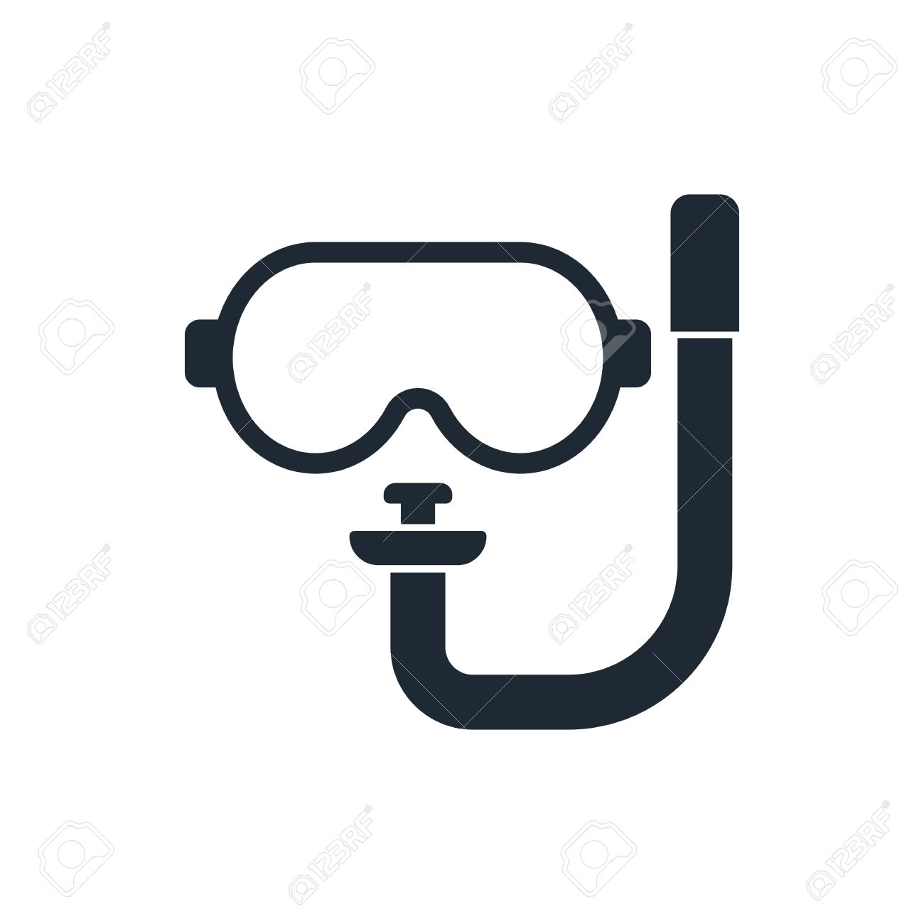 Dive mask clipart.