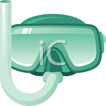 Royalty Free Clip Art Image: Scuba Diving Goggles and Snorkel.