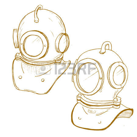 972 Diving Helmet Stock Vector Illustration And Royalty Free.