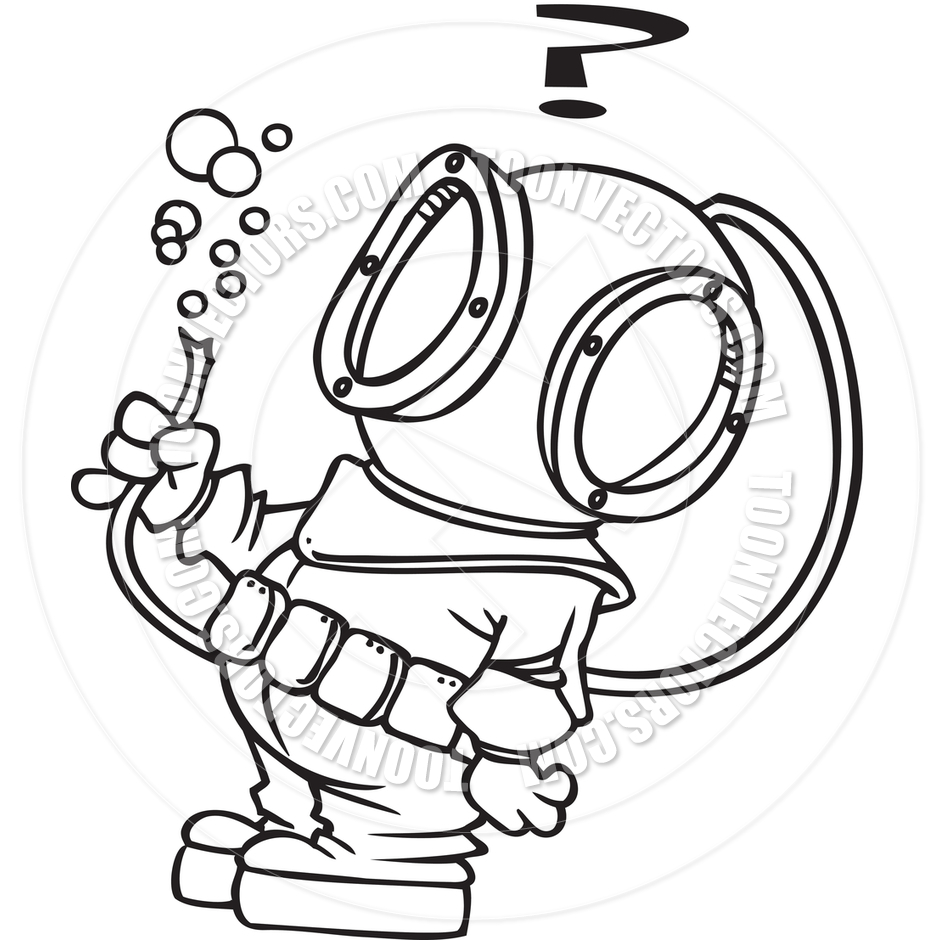 Deep Sea Diving Clipart.