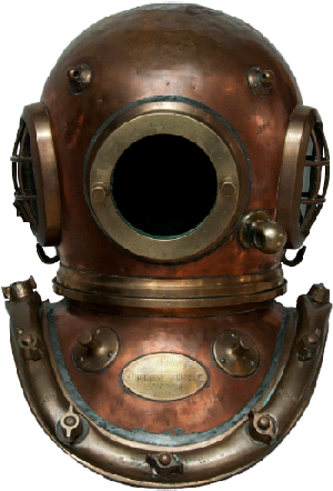 Canada Navy deep sea diving helmet WW2.