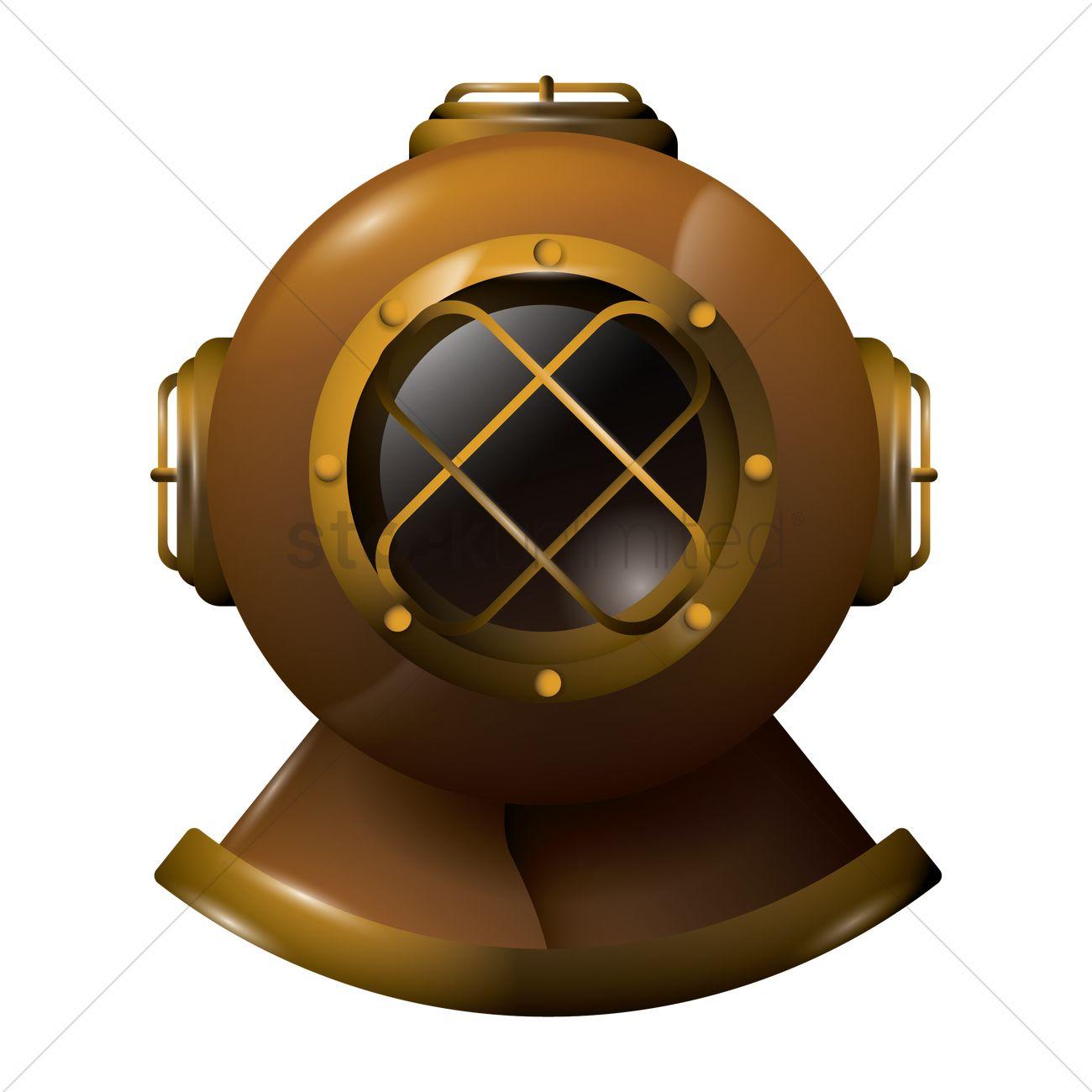 Diving helmet Vector Image.