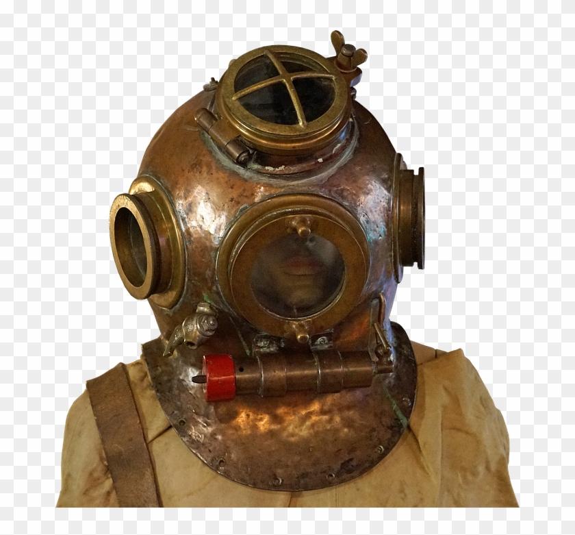 Divers, Helm, Divers Helmet, Old, Diving, Navy, Thread.
