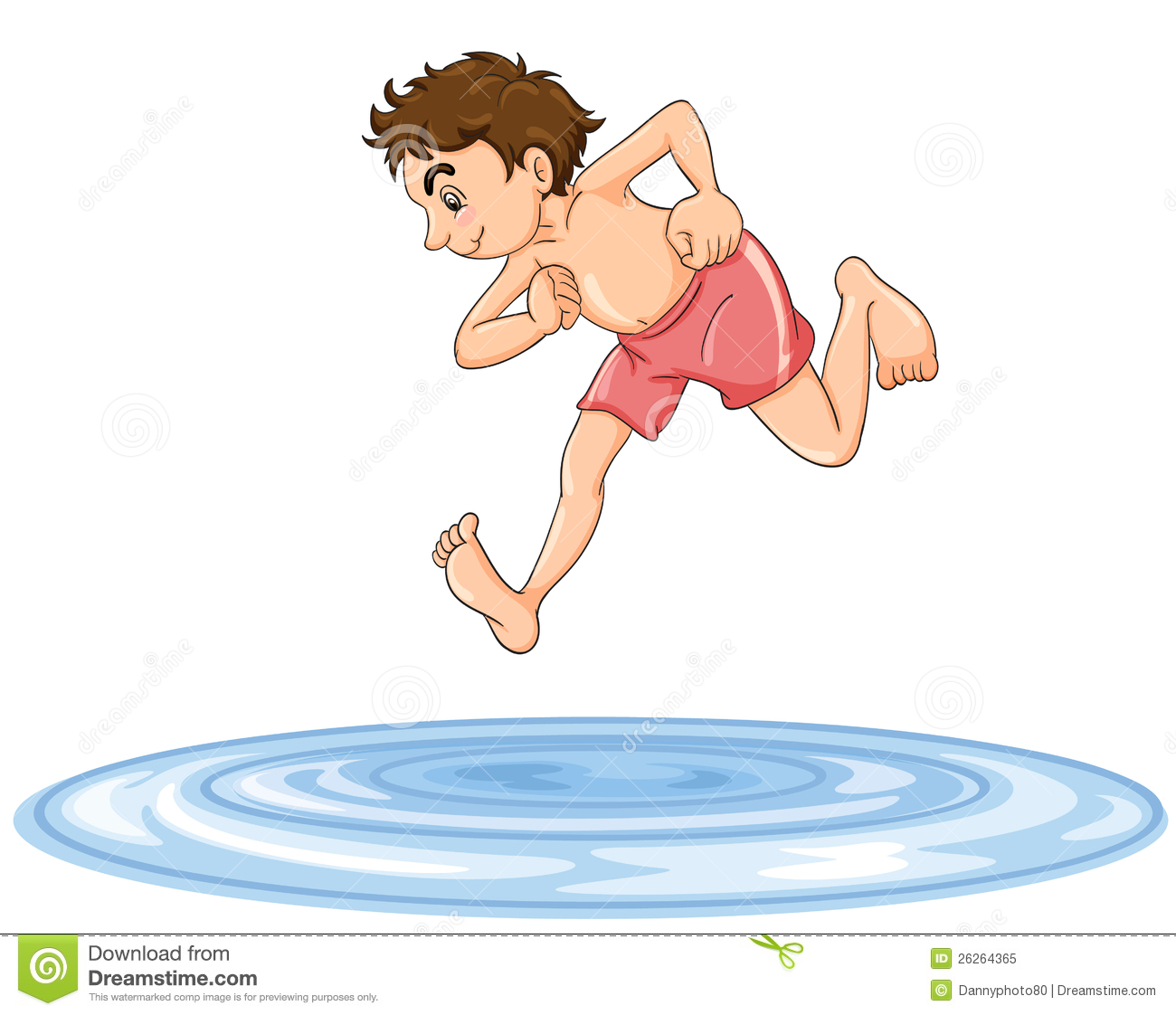 Jumping Into Water Clipart.