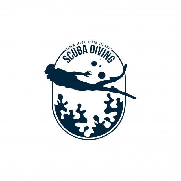 Scuba diving logo Vector.