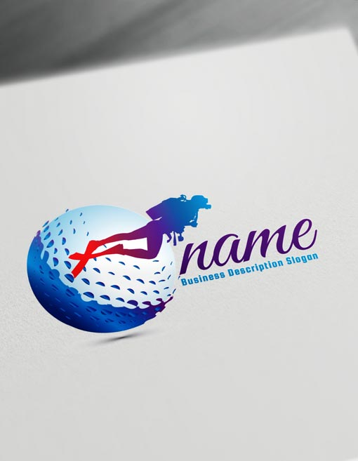 Scuba Diving Logo Design Online Create a Logo Diver\'s logo Maker.