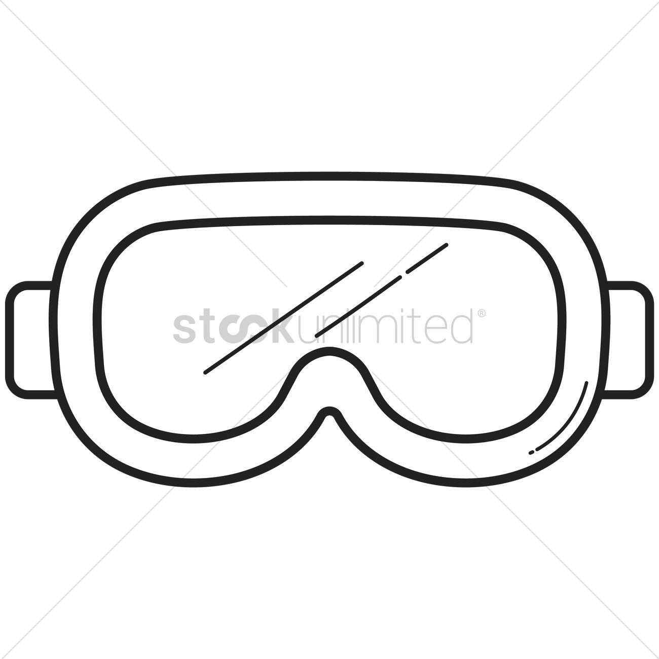 Snorkeling mask Vector Image.