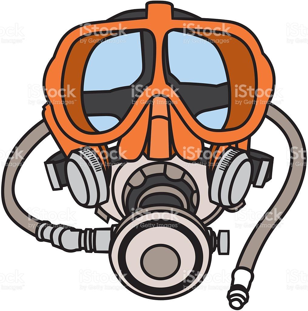 Scuba Diving Mask stock vector art 187943636.