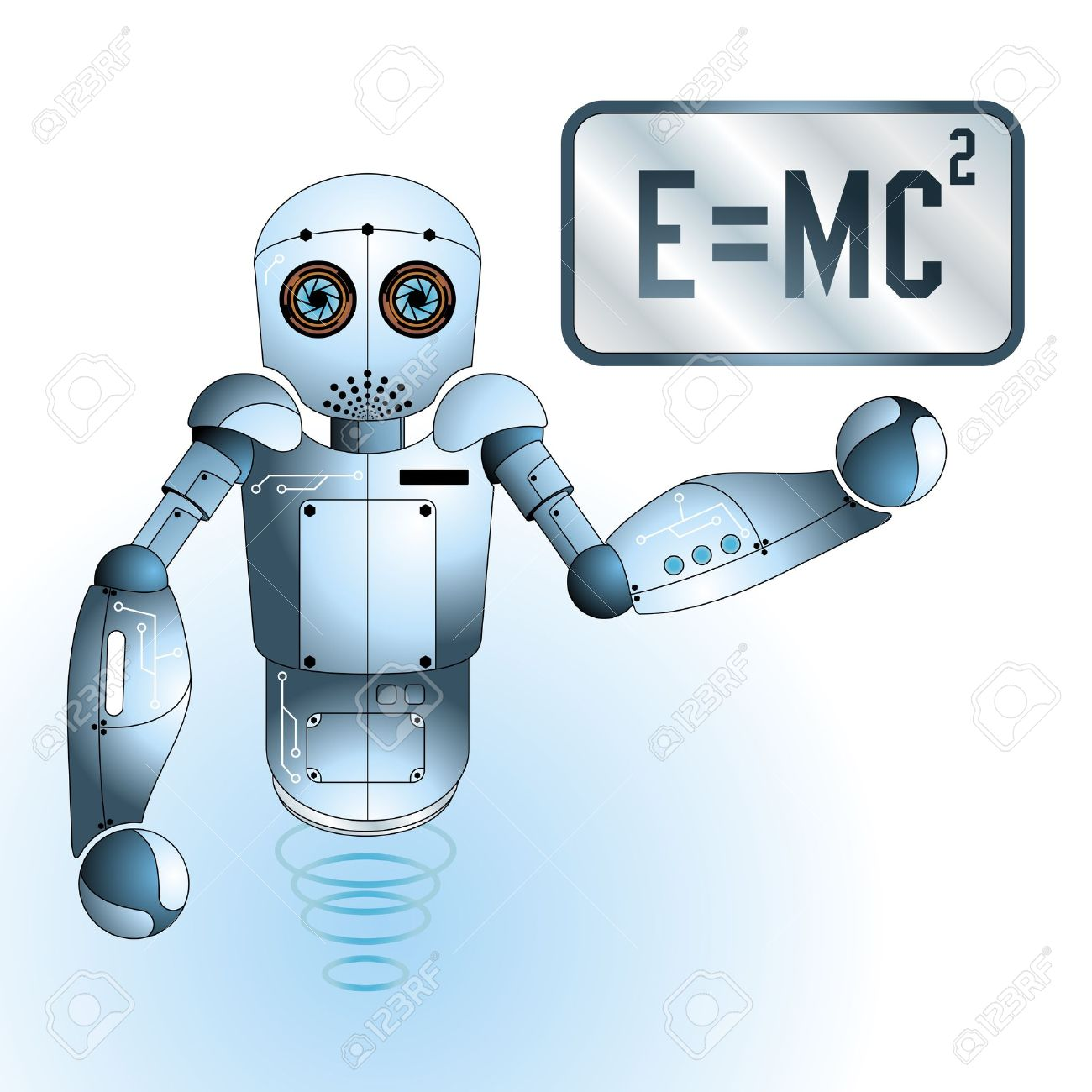 Cute Scientist Engineer Robot Royalty Free Cliparts, Vectors, And.