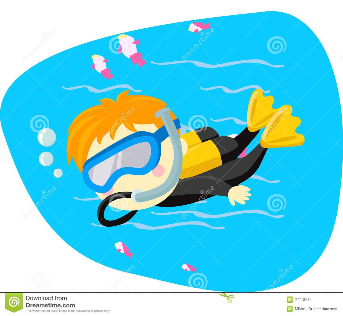 Diving Lessons Clip Art.