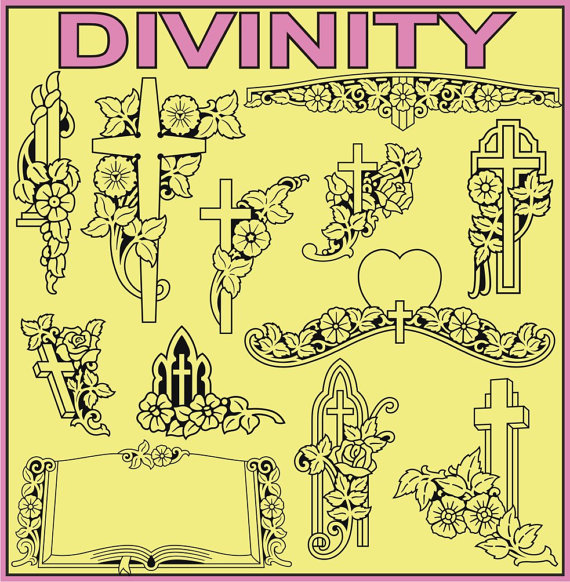 37 Divinity Vector Clipart by recycledstuff2u on Etsy.