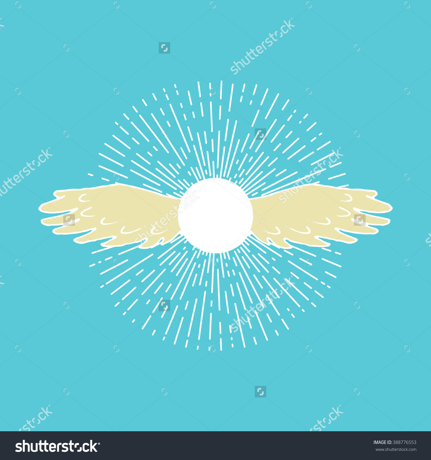 Winged Sun. Solar Symbol Associated With Divinity, Royalty And.