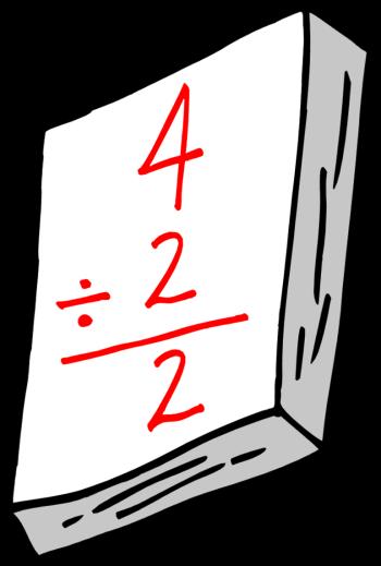 Math division clipart.