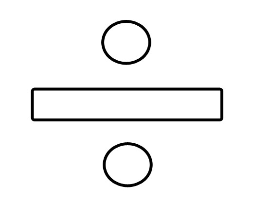 Division sign clip art.