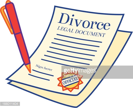 Divorce Paper Clipart.