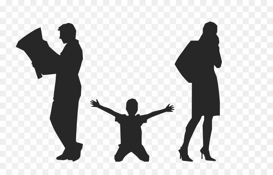 Family Silhouette png download.