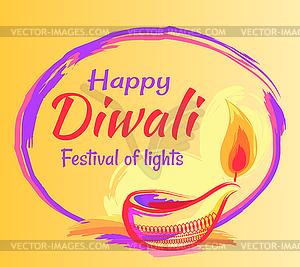 Happy Diwali 2018 Festival of Lights Banner.