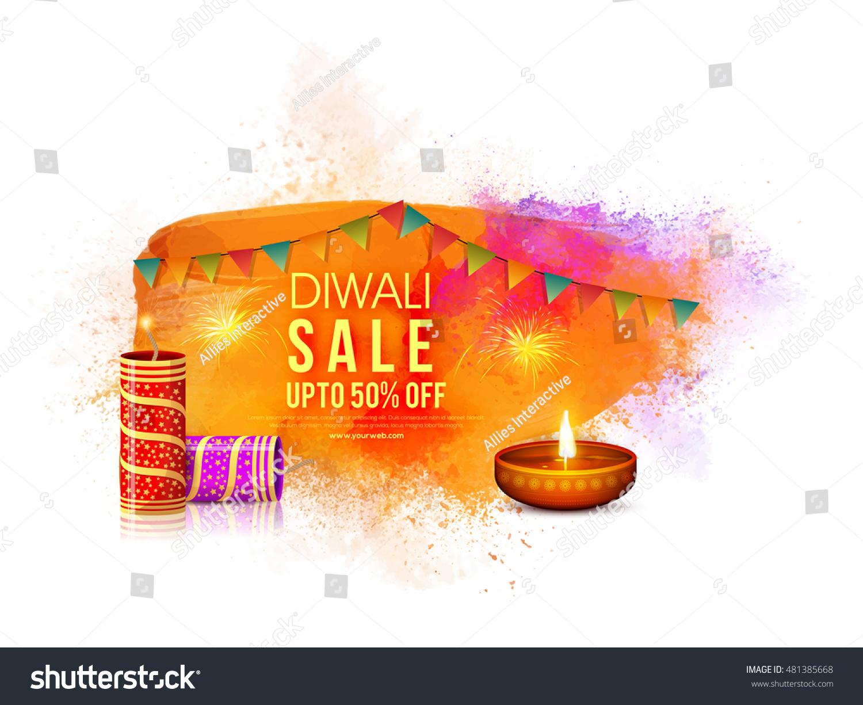 Diwali Sale Banner Sale Discount Flyer Stock Vector (Royalty Free.