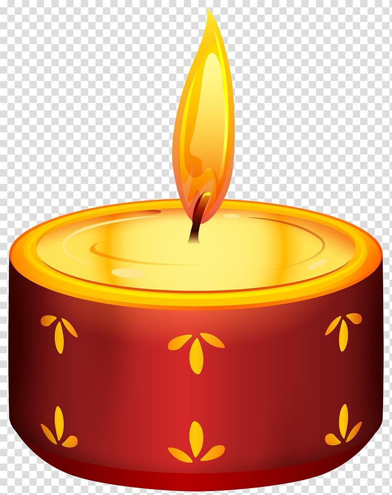 Lighted tealight candle illustration, Diwali Candle Birthday.