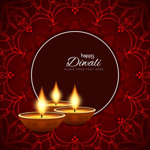 Abstract decorative Happy Diwali background.