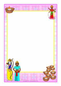 Diwali A4 page borders.