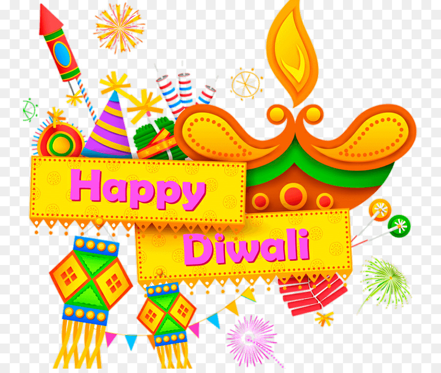 Happy Diwali Text clipart.