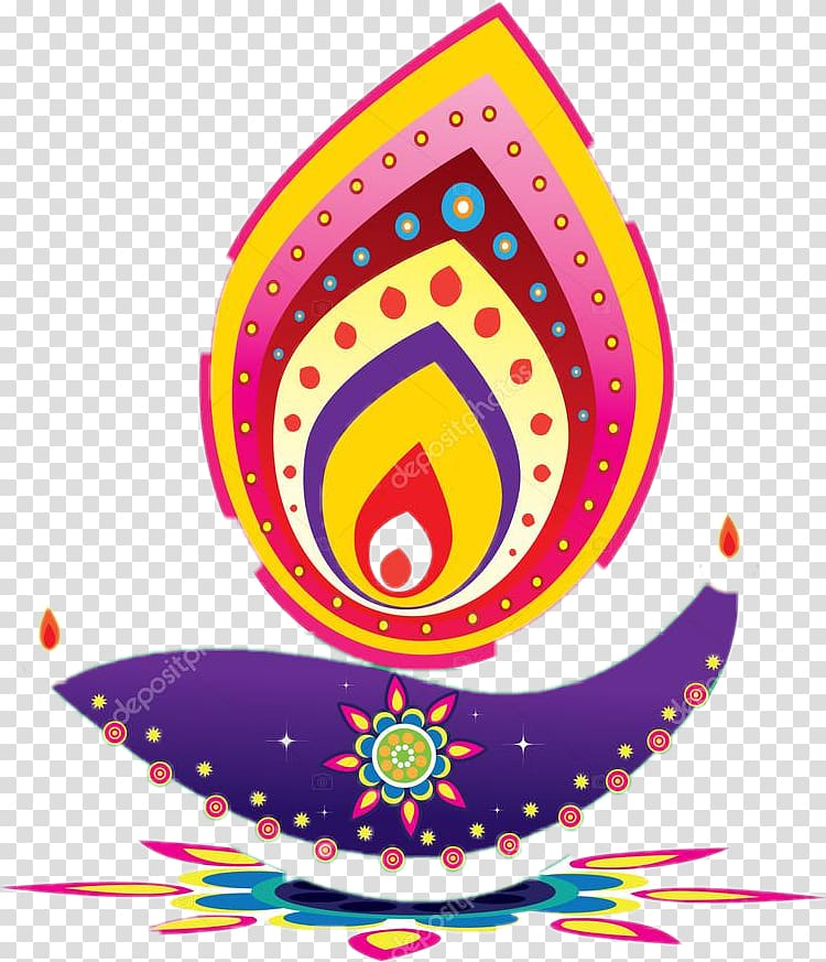 Multicolored , Diwali Diya , Diwali transparent background.