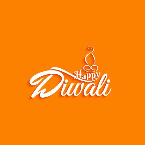 Abstract Happy Diwali text design background.