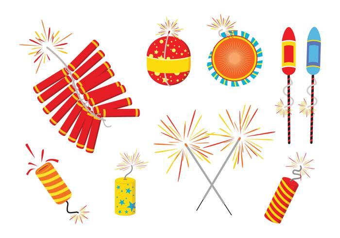 Diwali Fire Crackers Vectors.