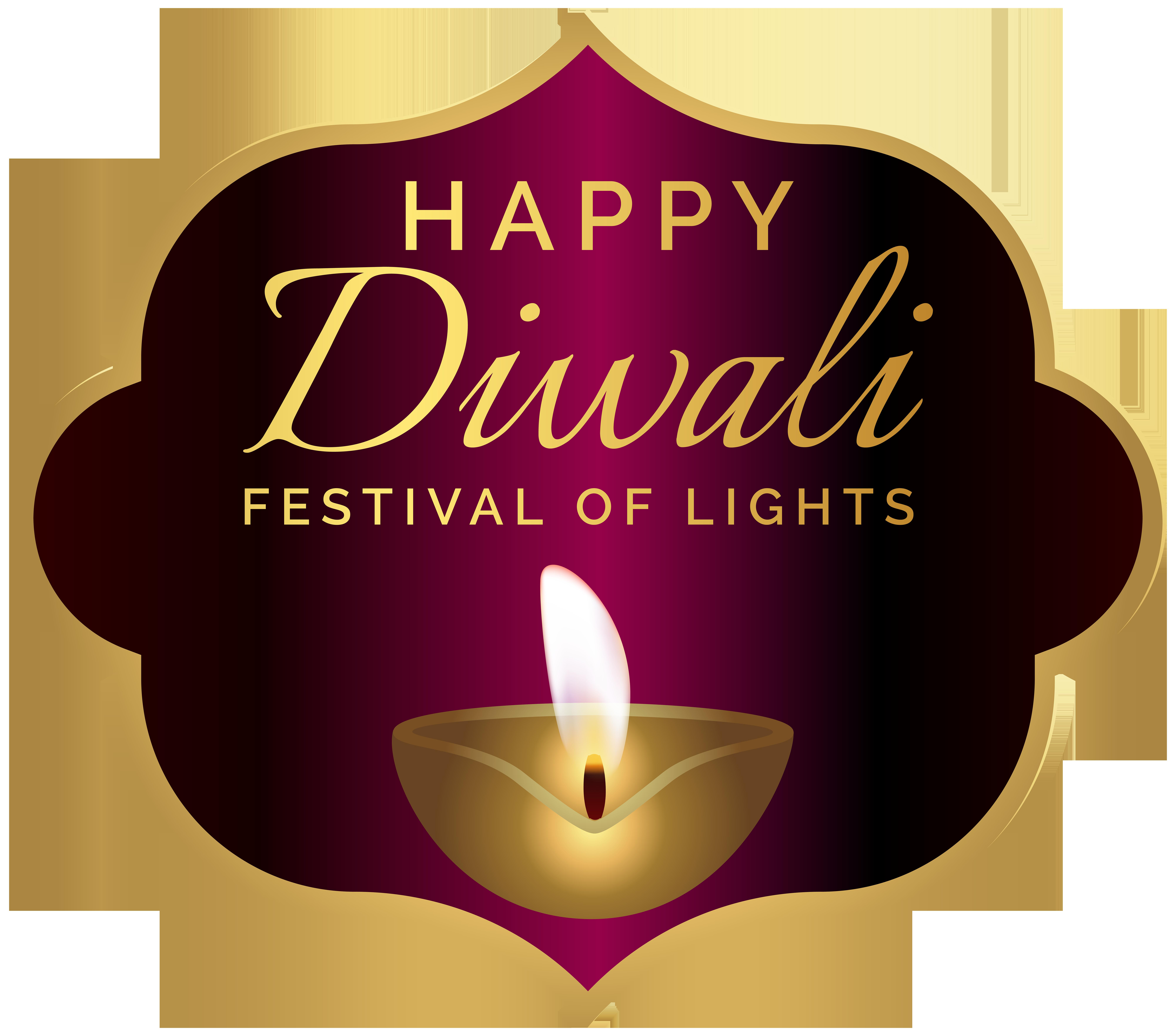 Happy Diwali Decoration PNG Clip Art Image.