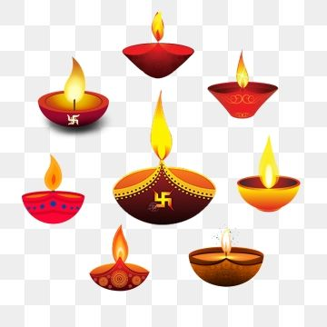 Diyas, Diya, Colorful Diya, Diwali Diya PNG Transparent.