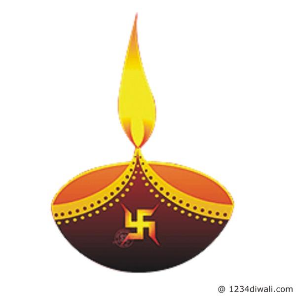 Diwali Diya Clipart.