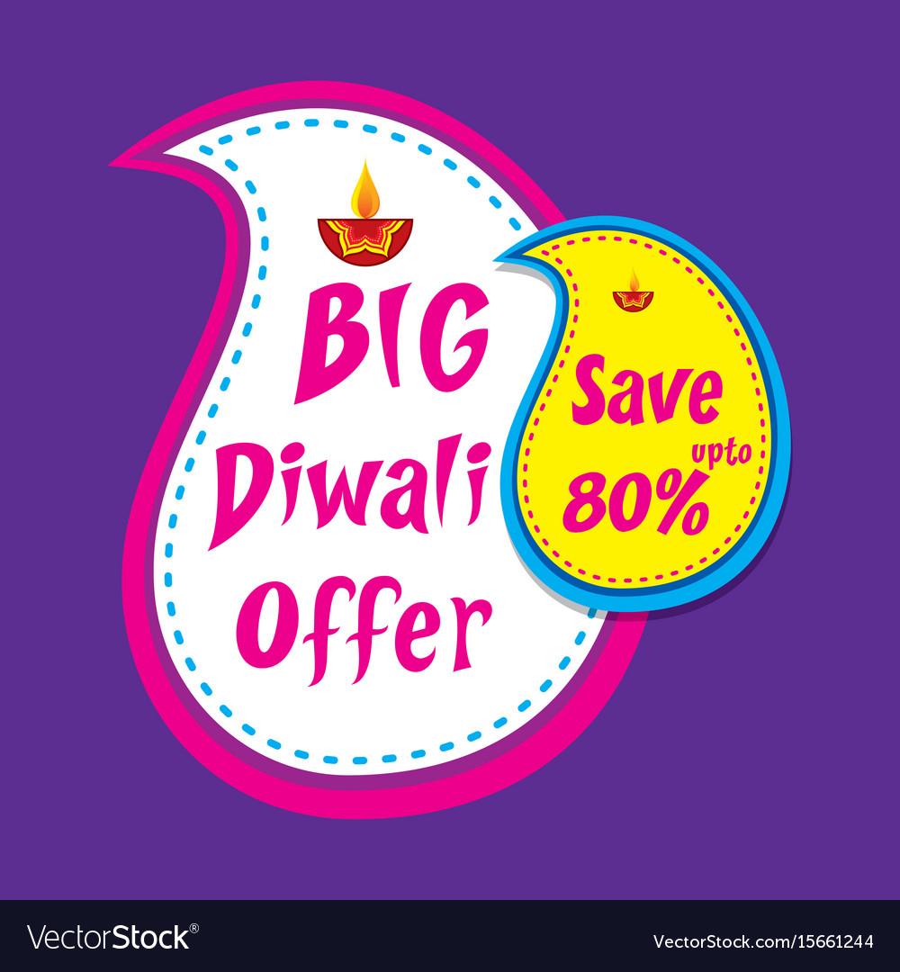 Big diwali offer banner design.