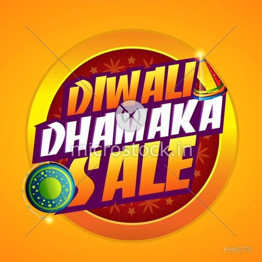 Diwali Dhamaka Sale Poster, Banner or Flyer design for Indian Festival of  Lights celebration concept..