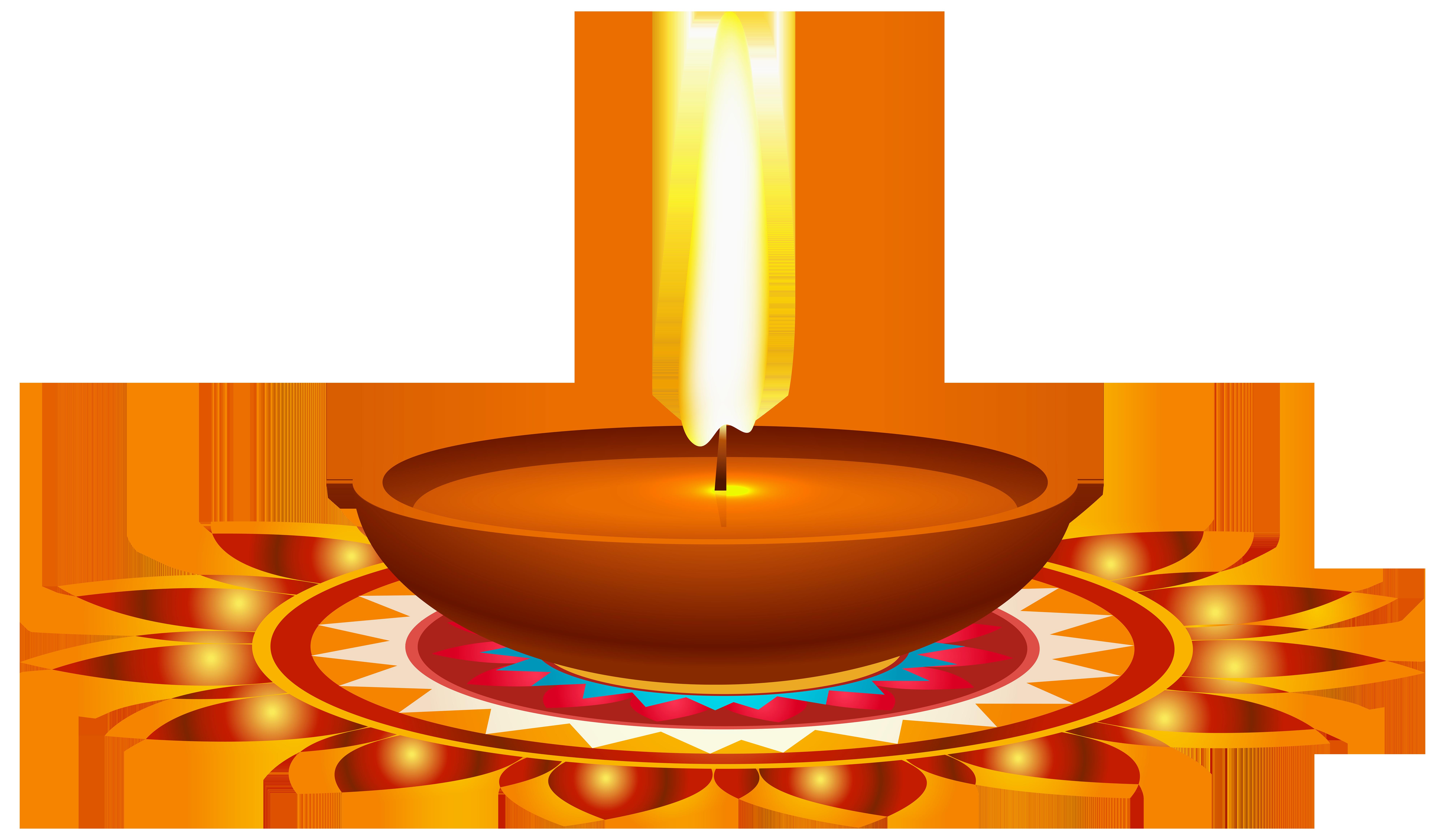 Diya Diwali PNG Transparent Images.