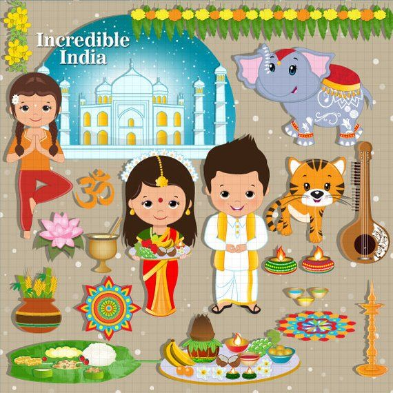 Incredible India clipart, India, Indian, ethnic, celebration clipart.