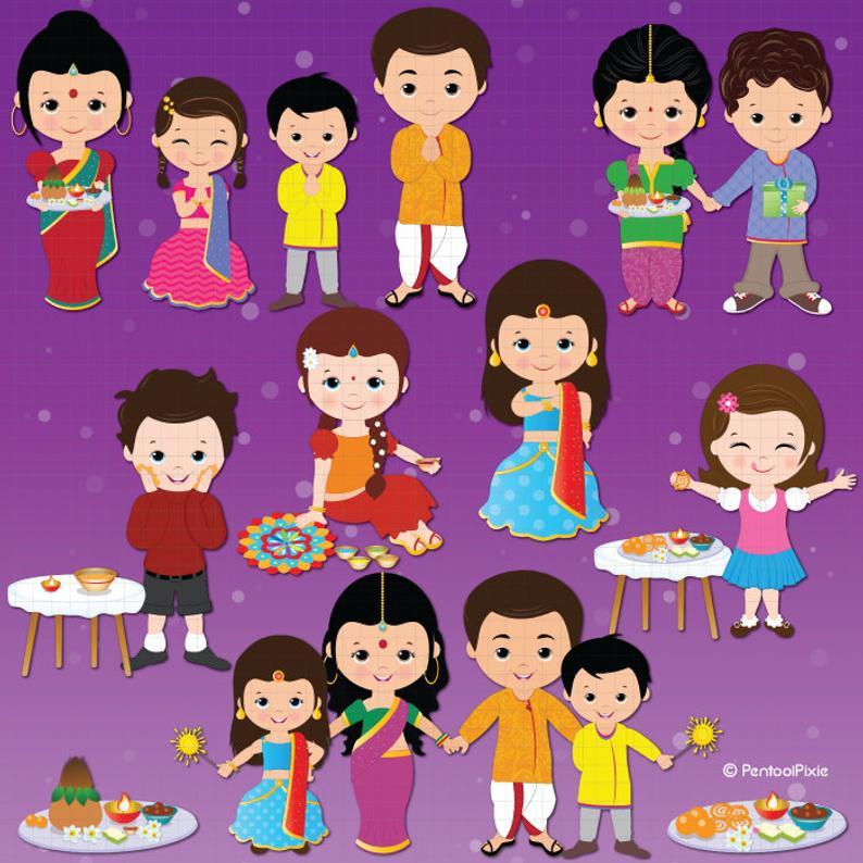 Deepavali clipart, Diwali clipart, ethnic, celebration clipart, Festival  clipart.