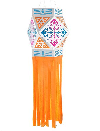 Akash Kandil, Ashtkone Style Paper Lantern ORANGE (Free 2 Day Priority  Shipping on all colors).