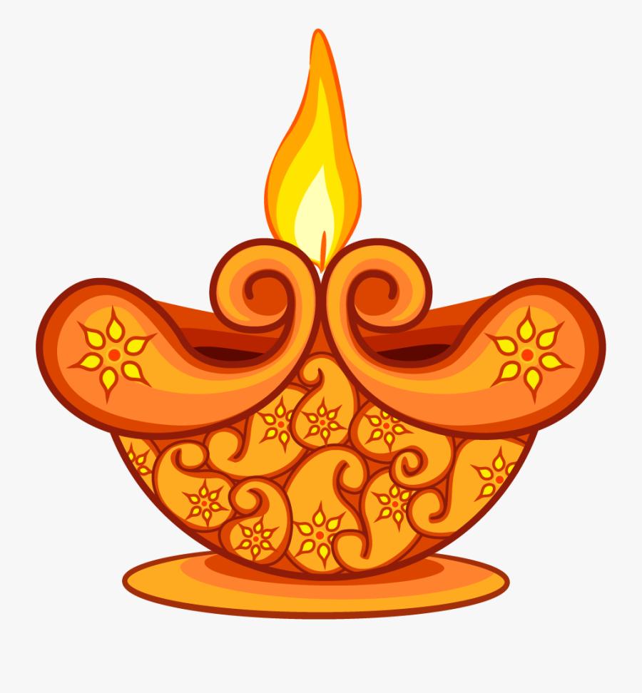 Clipart Diwali Lamp Png , Png Download.