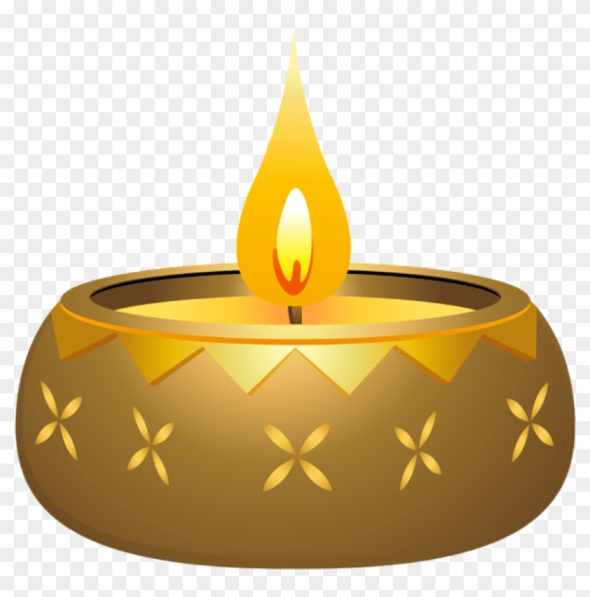Diwali Candle Png.