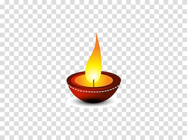 Brown lighted candle art illustration, Light Diwali Diya , For Free.