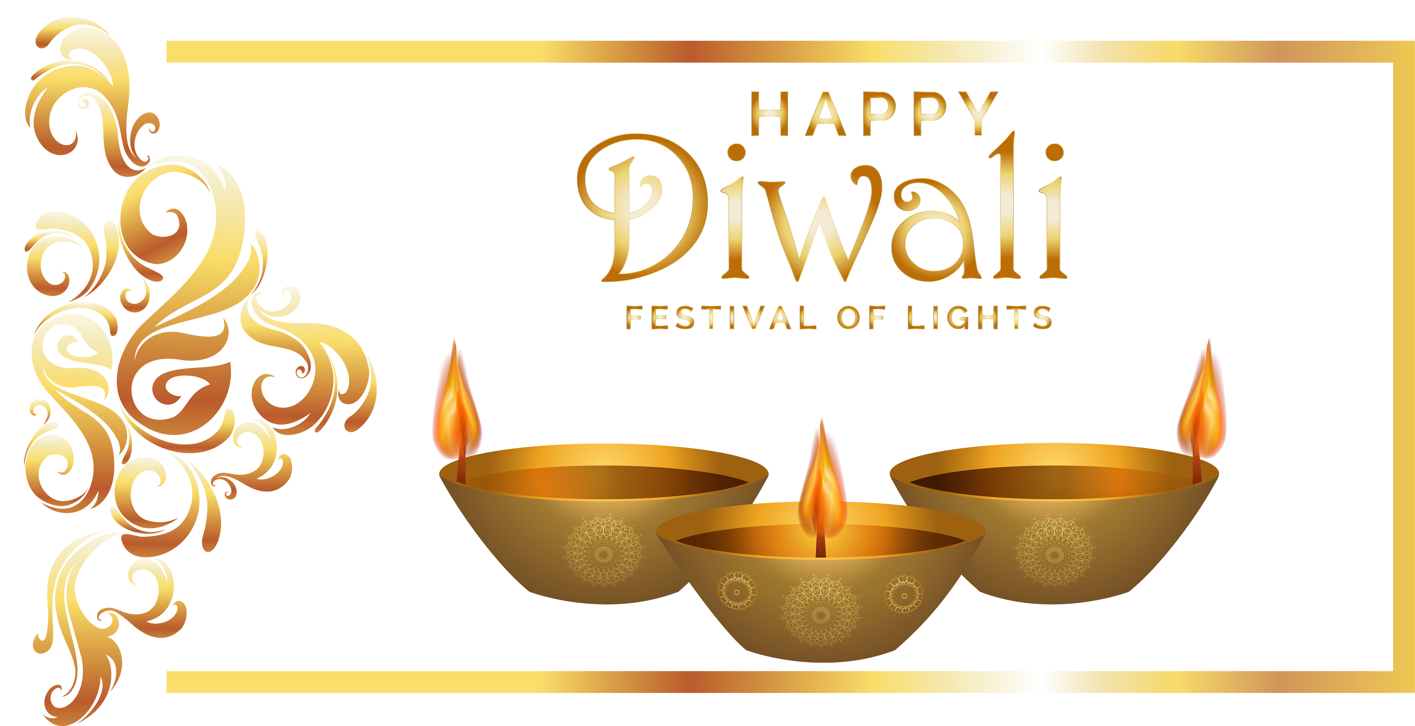 Happy Diwali PNG Image Background.