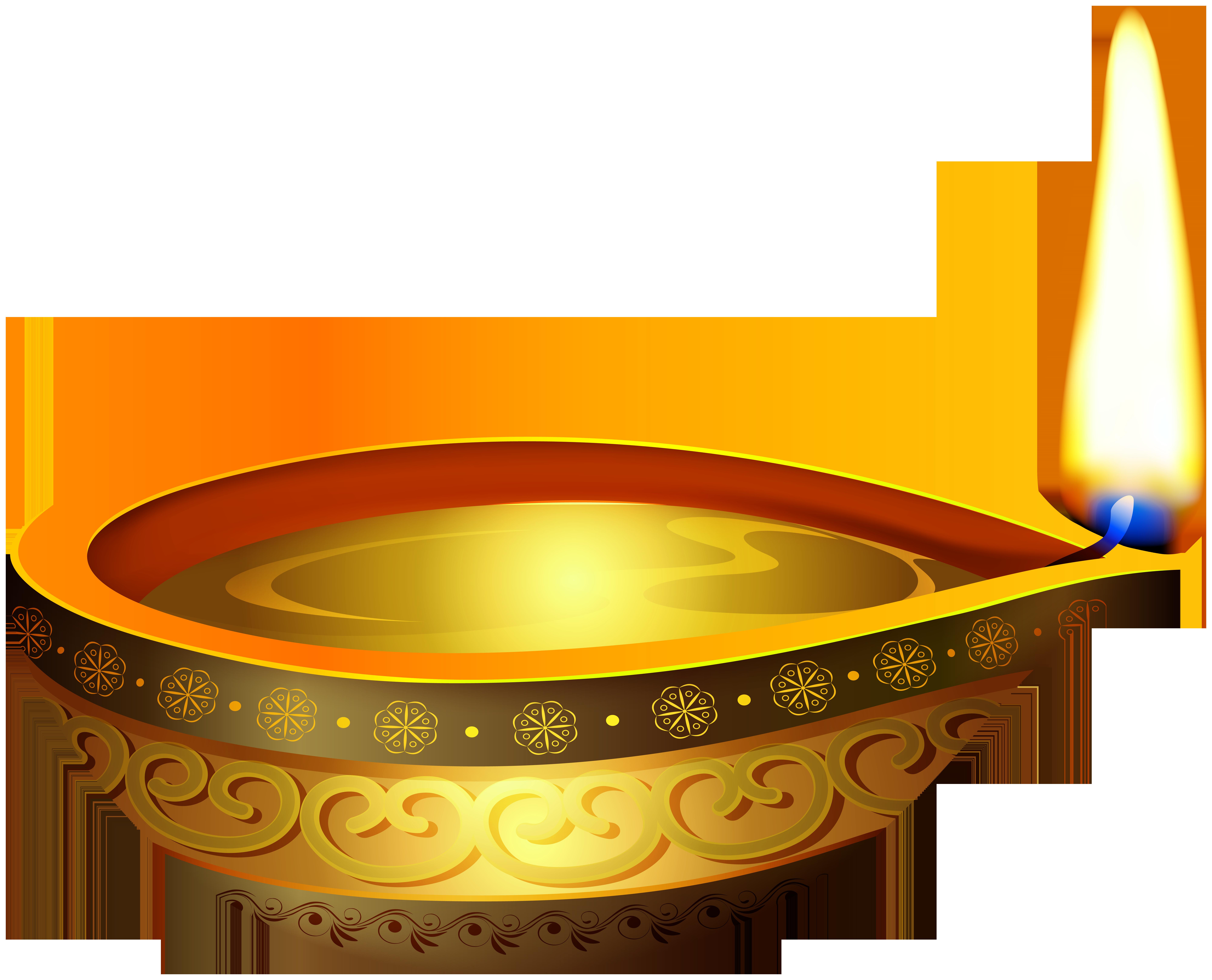 Diwali Candle PNG Clip Art.