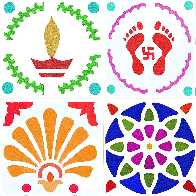 Buy Ascension Diwali Rangoli Stencil DIY Rangoli Designs Patterns.