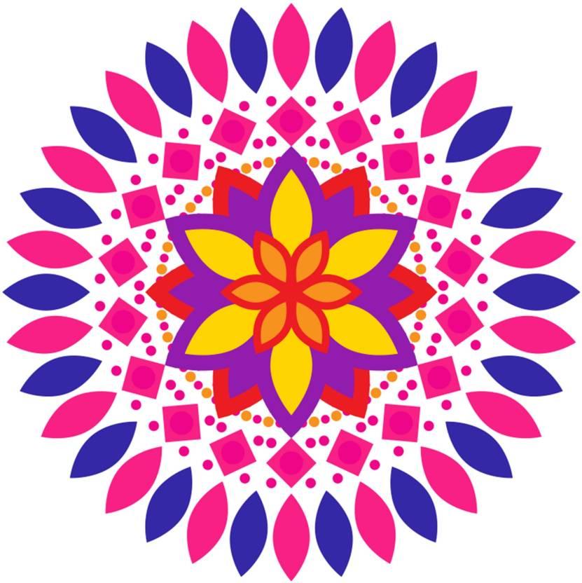 Kingcreation Medium Diwali Rangoli Sticker Sticker Price in India.