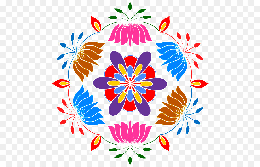 Diwali Floral Background clipart.