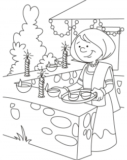 Scene pictures sketches festival. Diwali drawing children\'s.
