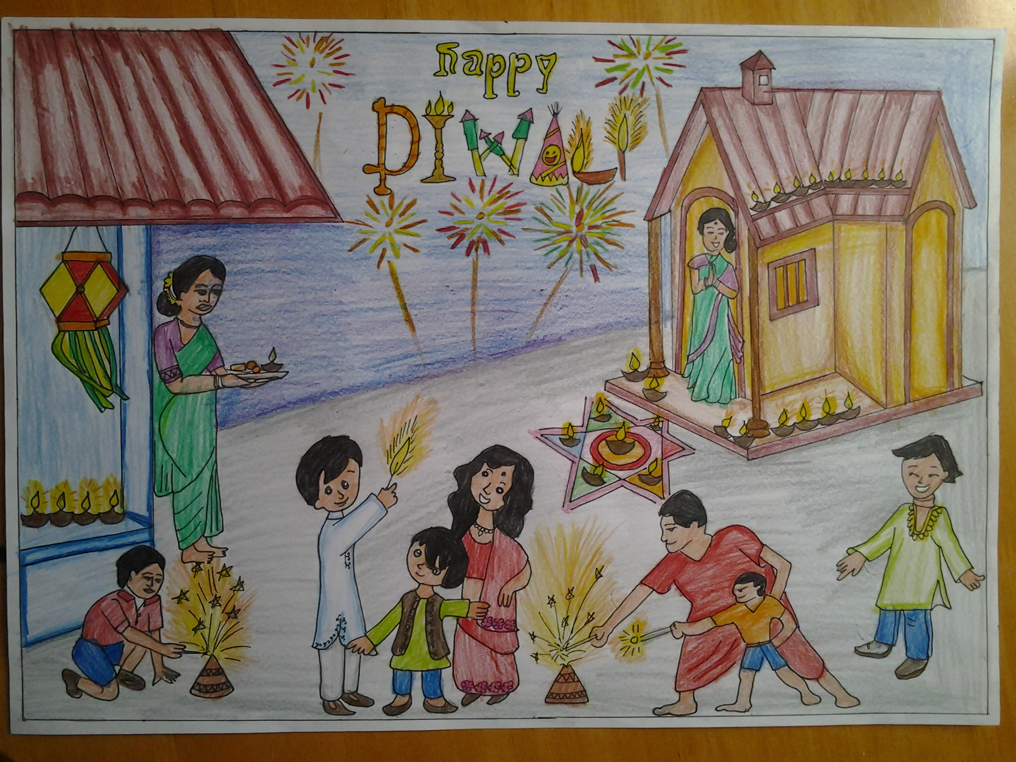 Diwali Drawing at GetDrawings.com.